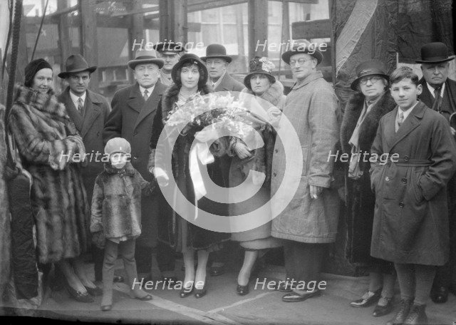 Christening Group for the Yugoslavian 'Bakar', J Samuel White and Co, Cowes, Isle of Wight, 1931. Creator: Kirk & Sons of Cowes.