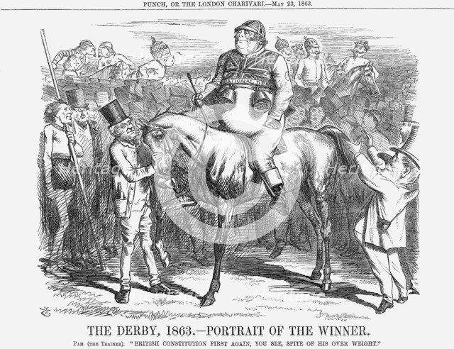 'The Derby 1863 - Portrait of The Winner', 1863. Artist: John Tenniel