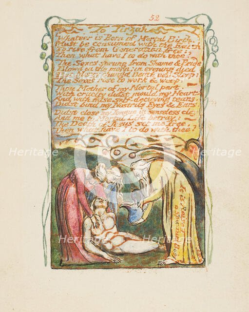 Songs of Innocence and of Experience: To Tirzah, ca. 1825. Creator: William Blake.