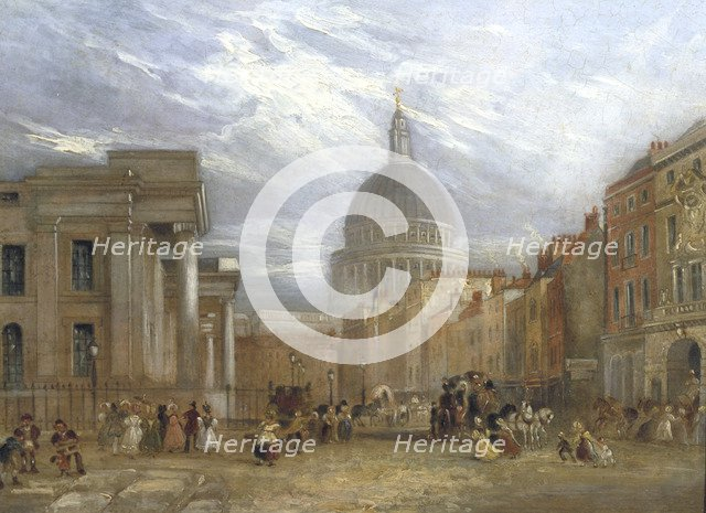'The Old General Post Office and St Martin's le Grand', 1835.                                        Artist: George Sidney Shepherd