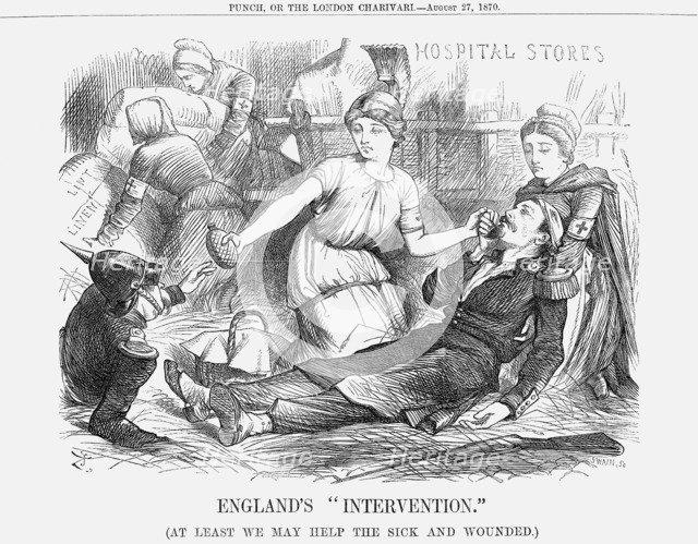 'England's Intervention., 1870. Artist: Joseph Swain