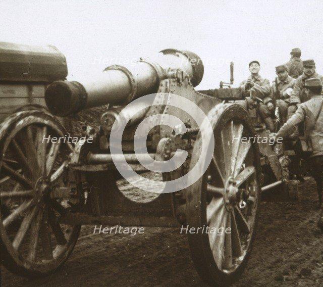 Artillery column at Verdun, northern France, c1914-c1918. Artist: Unknown.