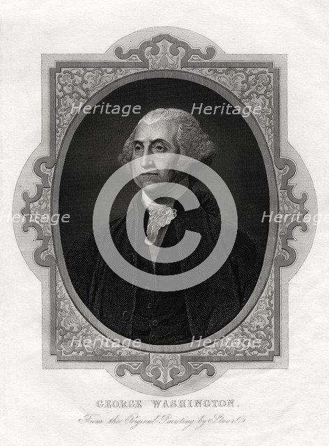 George Washington, first President of United States, 1877. Artist: Unknown