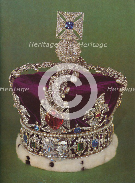 'The Imperial State Crown', 1953. Artist: Rundell, Bridge and Rundell.