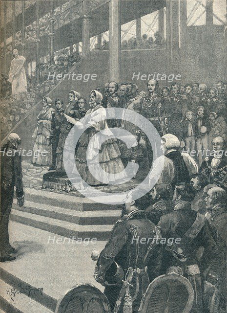 'The Queen Opening The Crystal Palace', 1906. Artist: Unknown.