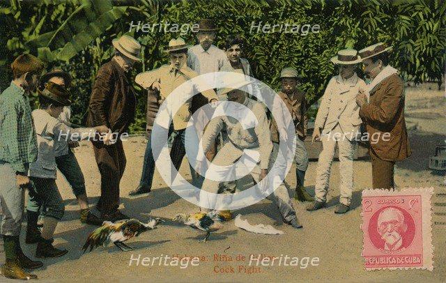 'Habana: Rina de Gallos. Cock Fight', 1918. Artist: Unknown.