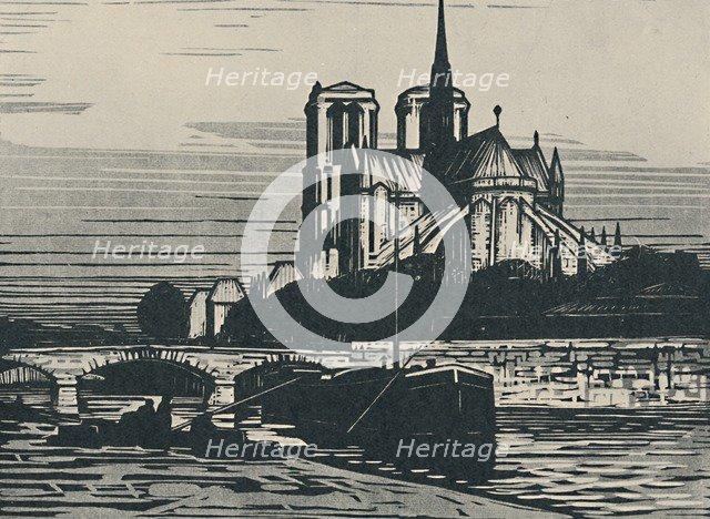'Notre-Dame De Paris', 1919. Artist: Alfred Latour.