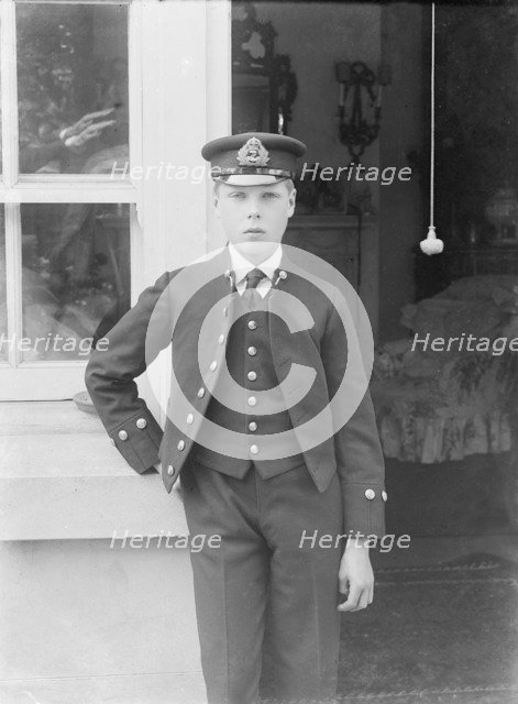 Prince Edward at the Royal Naval College, Osborne, Isle of Wight, c1909.  Creator: Kirk & Sons of Cowes.