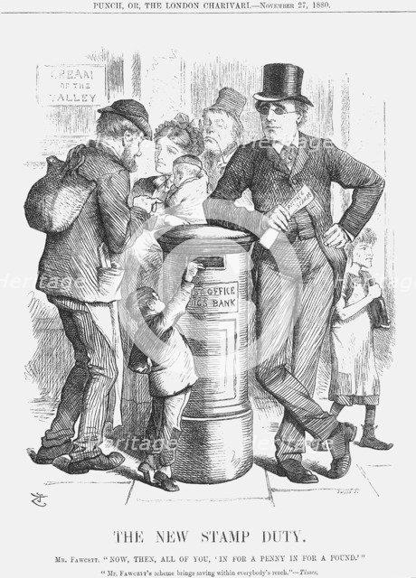 'The New Stamp Duty', 1880. Artist: Joseph Swain