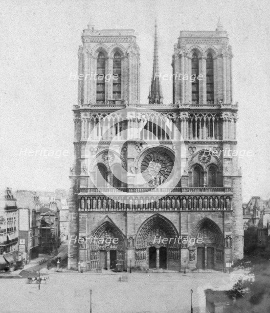 Notre Dame de Paris, France, late 19th or early 20th century. Artist: Photographic Company