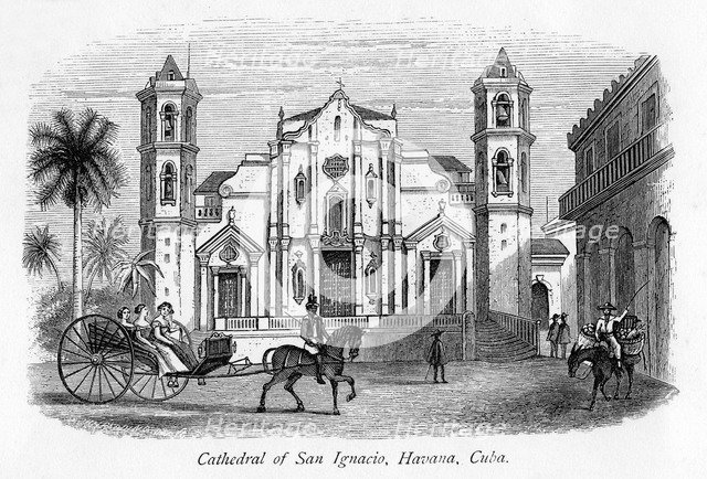 'Cathedral of San Ignacio, Havana, Cuba', 19th century(?). Artist: Unknown