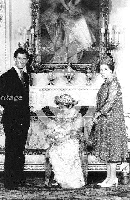 Baptism of Prince William, Buckingham Palace, London, 1982. Artist: Unknown