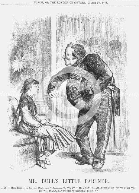 'Mr Bull's Little Partner', 1878. Artist: Joseph Swain