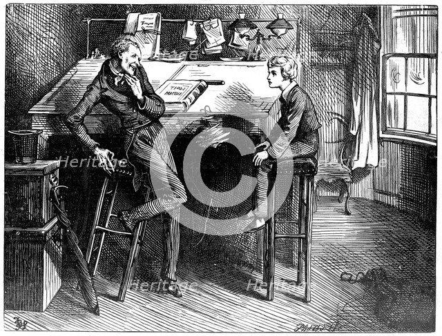 David Copperfield and Uriah Heep, 1912. Artist: Frederick Barnard