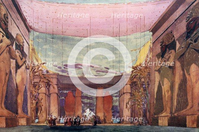 Set design for a Ballets Russes production of Cleopatra, 1909. Artist: Leon Bakst