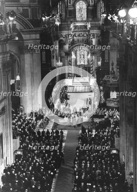 State funeral of Sir Winston Churchill, St Paul's Cathedral, 30th January 1965. Artist: Unknown