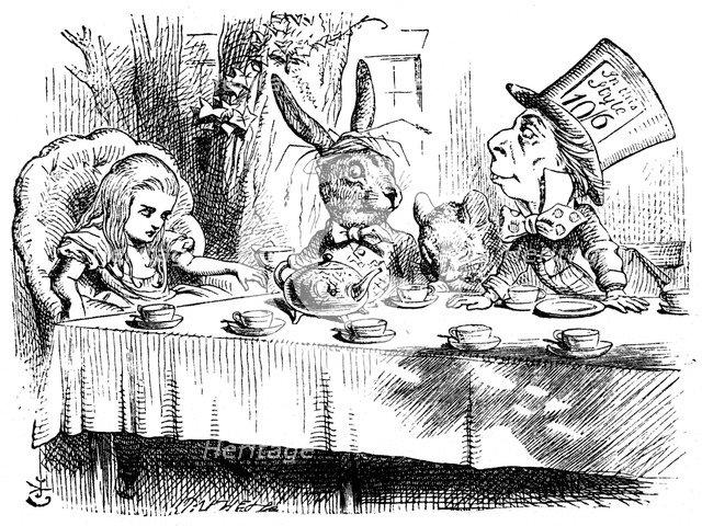Scene from Alice's Adventures in Wonderland by Lewis Carroll, 1865. Artist: John Tenniel