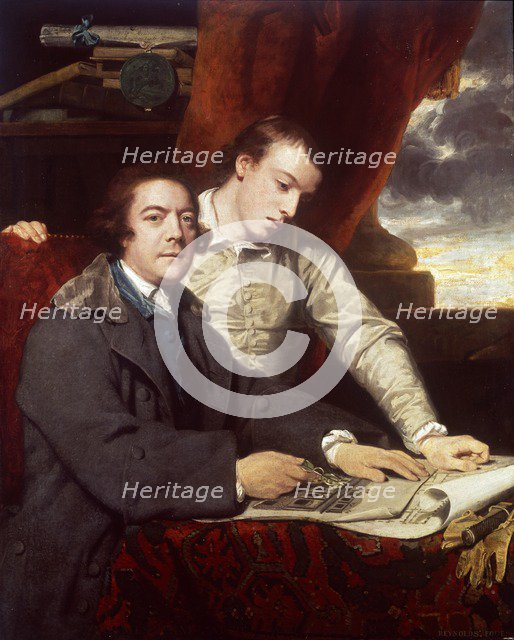 James Paine, Architect and his Son, James, 1764. Artist: Sir Joshua Reynolds.